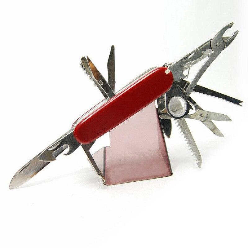 Многофункциональный швейцарский 91 мм складной нож из нержавеющей стали многофункциональный инструмент армейские ножи карманный охотничий Открытый походный нож для выживания - Цвет: Красный