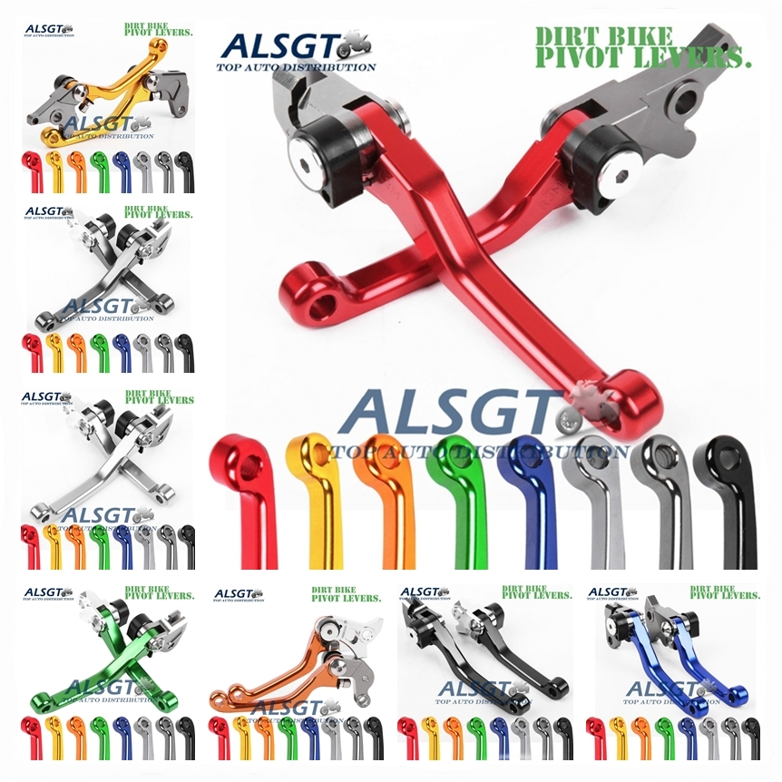 For Honda XR400 XR 400 MOTARD 2005 - 2008 2007 2006 CNC Pivot Racing Dirt Bike Clutch Brake Levers Hot Motocross Aluminum Lever