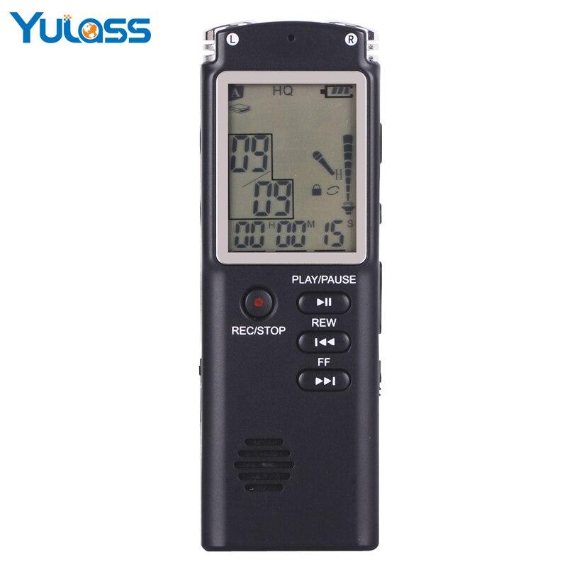 Yulass nouveau 16 GB enregistreur vocal USB professionnel 96 heures Dictaphone enregistreur vocal Audio numérique avec WAV, lecteur MP3