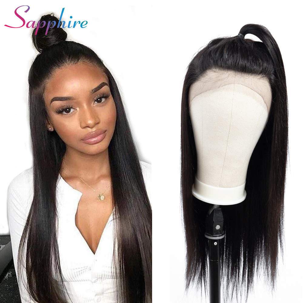 SAPPHIRE Human Hair Wig Brazilian Remy 13 4 Lace Front Human Hair Wigs Straight With Baby
