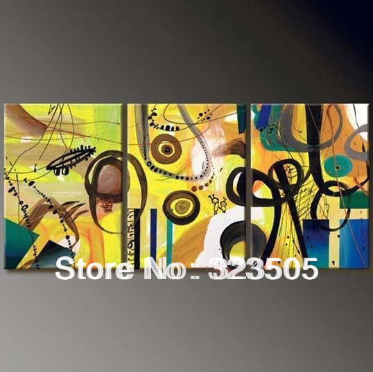 3 panel canvas wall art abstract modern acrylic wall deco Asia hand ...