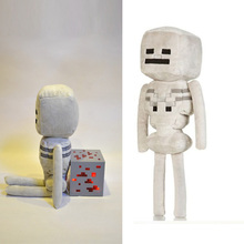 10 pcs/lot Wholesale Minecraft Skeleton Plush Toys High Quality Minecraft Stuffed Dolls Kids Brinquedos Gifts In Stock