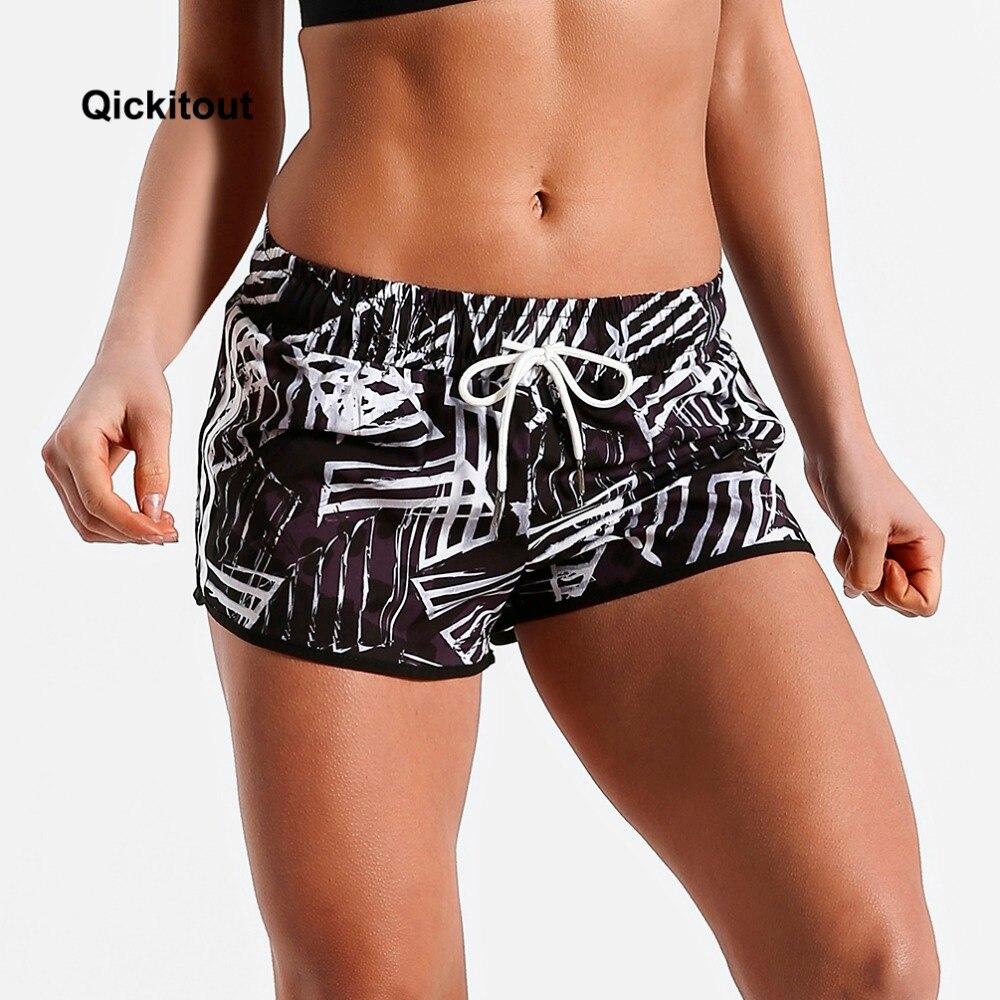 Qickitout Fashion Sexy Women Casual   Shorts   Fitness Ladies   Shorts   Scanties Big Size Digital Print Fitness Clothes   Shorts   XS-XL