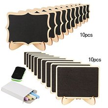 METABLE 20PCS Mini Chalkboard Small Blackboard With Stand for Party Wedding Table Number Message Board vodool fine mini wooden chalkboard stand message boards clips blackboard for wedding party coffee bar