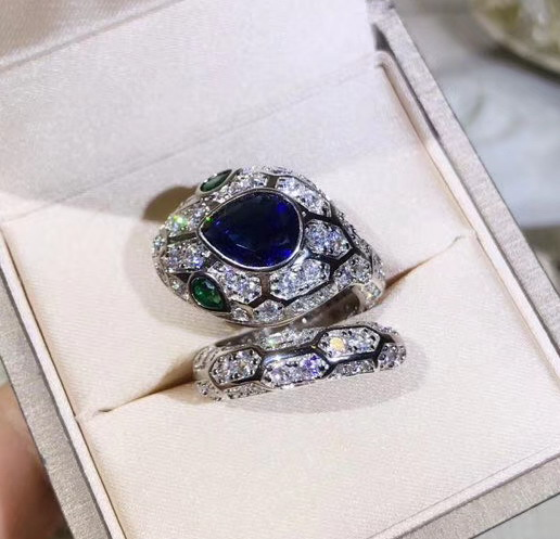women vintage anel bijoux en argent 925 silver jewellery blue zircon crystal animal rings bijoux fine