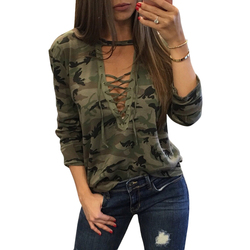 Women camouflage blouse clothing camo halter top sexy bandage long sleeve font b shirt b font.jpg 250x250