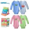 2015 DANROL 5pcs/lot Baby Bodysuit Infant cotton cartoon Jumpsuit,Newborn one-piece suit Baby clothes