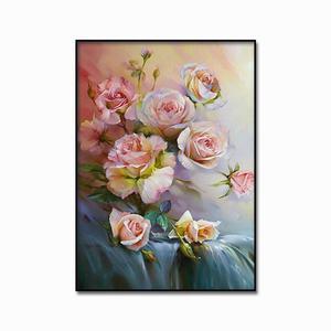 Image 5 - Classic rose pittura a olio di San Valentino Giorno decorativa poster e stampato Nordic pittura murale di arte della parete casa pittura decorativa