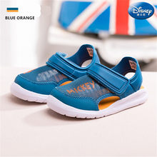 2019 Disney Brand Kids Sandals Closed Toes Summer Mesh Shoes Baby Girl Sandals Soft Outsole Casual Sport Sneakers(China)