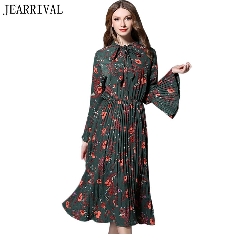 2017 New Summer Dress Women Long Flare Sleeve Vintage ...