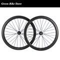 700C 50 мм Углеродные Дисковые Тормозные колеса 23 мм ширина колеса Cyclocross Углеродные велосипедные диски