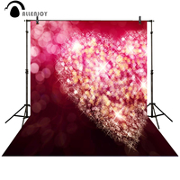 Allenjoy Photography Background Pink Heart Shiny Backdrop For Wedding Valentine S Day Vinyl Computer For Family