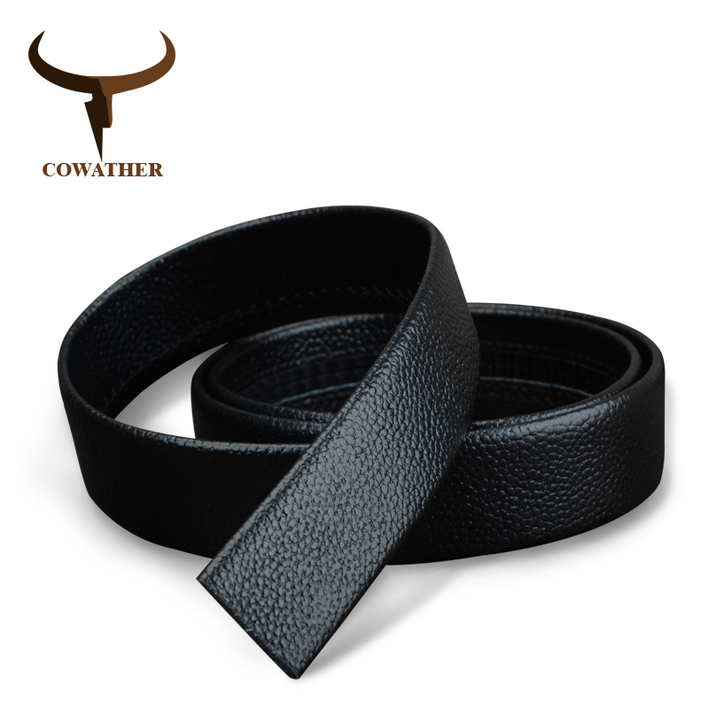 COWATHER Automatic Top Quality Belt Top Leather Real Cowhide Genuine Leather Belts For Men Brown Black Free Ship Dropshiping 31