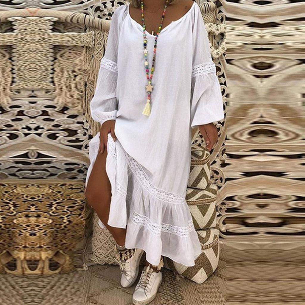 €5.1 39% СКИДКА|Женское платье для праздника, повседневное, простое, однотонное, на шнуровке, летнее, женское, с открытой спиной, Пляжное, вечернее платье|Платья| |  - AliExpress