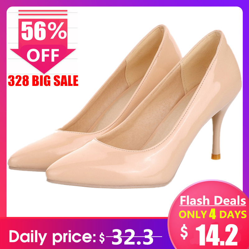 5aee8e2700 MORAZORA Big Size 34-46 2019 New Fashion high heels women pumps thin heel  classic white red nude beige sexy ladies wedding shoes