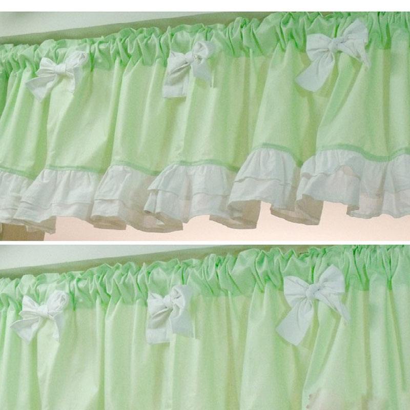40*150 Japan Style Green Door Curtain Lace Kitchen