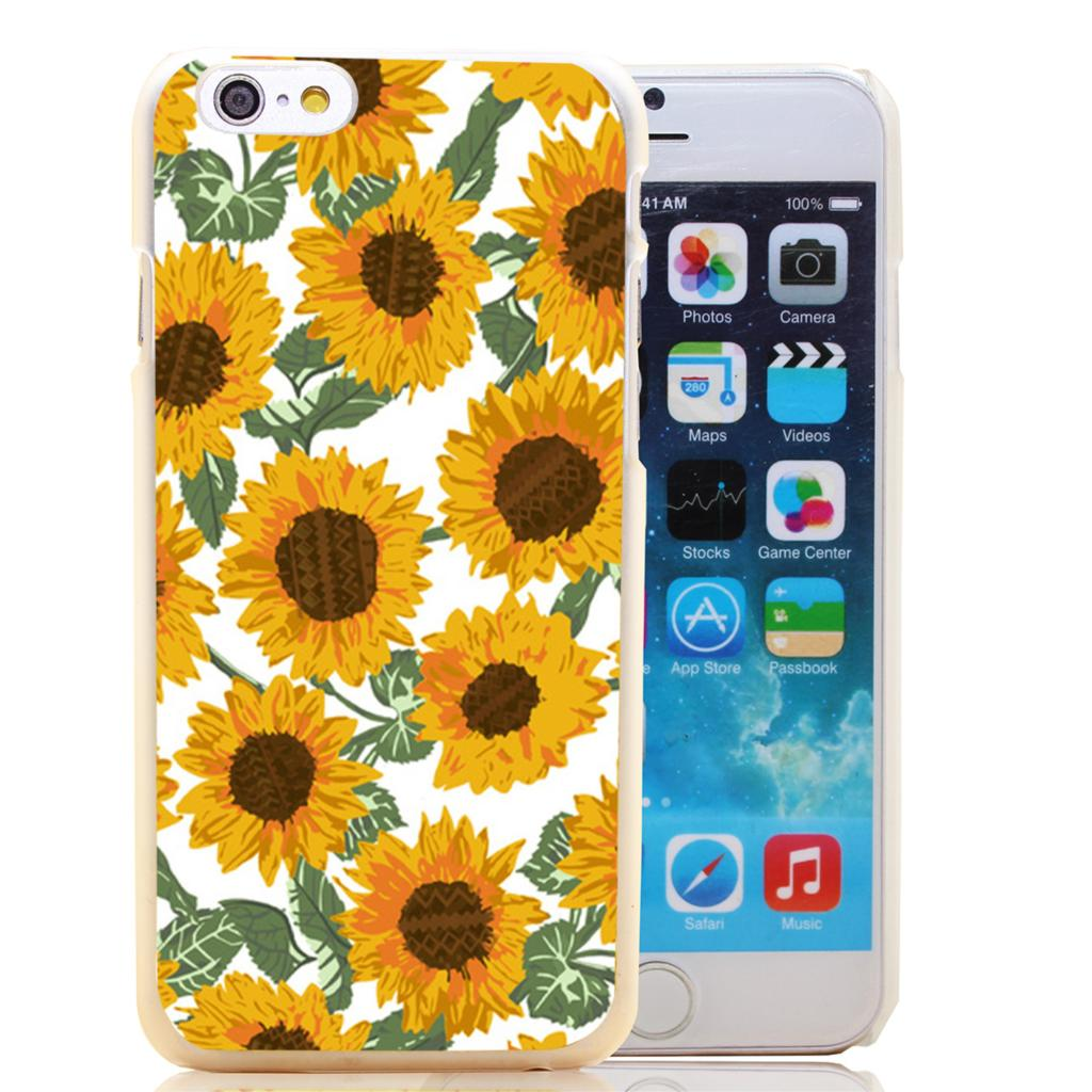 1586-HOQE sunny days sunflowers Transparent Hard Case Cover for iPhone 6 6s plus 5 5s 5c 4 4s Phone Cases