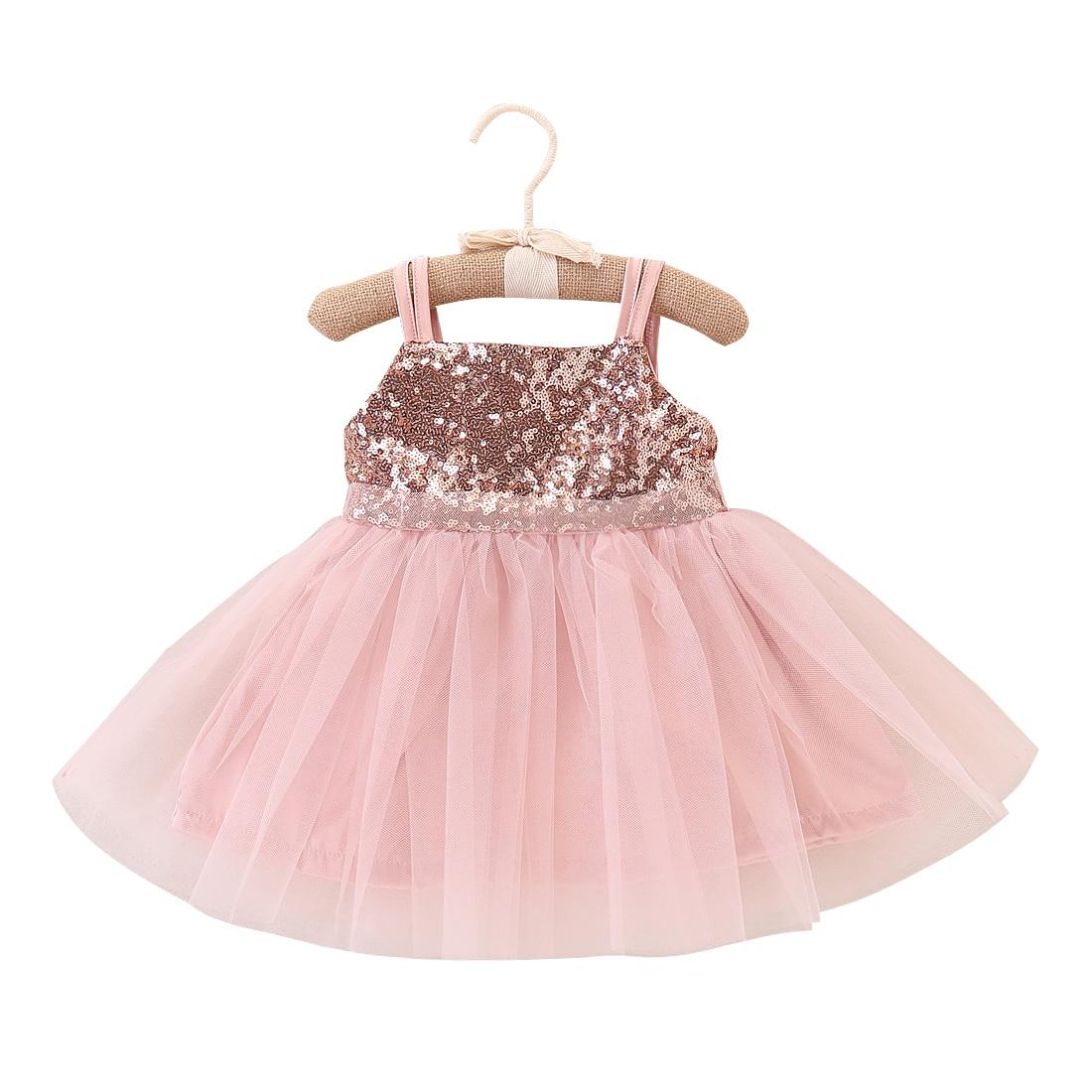 86a3826244 Dziecko dziecko sukienki dla dziewczynek 2018 cekiny Bow tiul księżniczka  dziewczyny wesele suknie urodzinowe