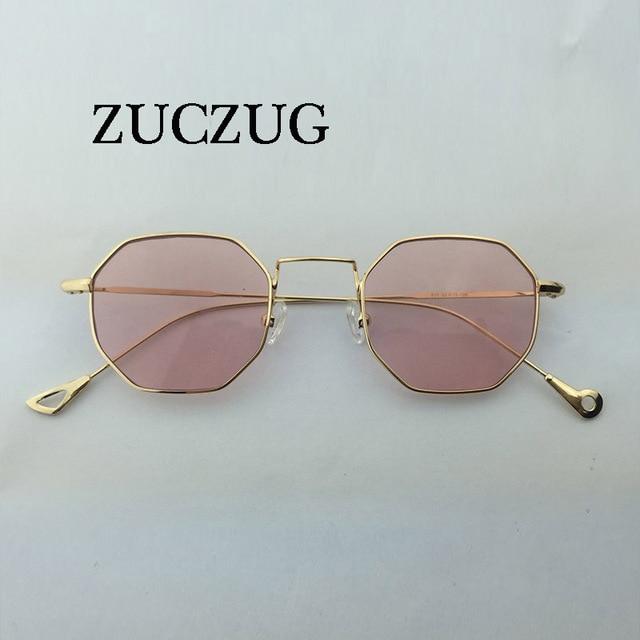 ZUCZUG Hexágono Polígono de Óculos De Sol Das Mulheres Pequeno Quadro Óculos  De Sol dos homens 768e0e00dd