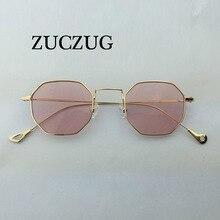 31052a2edb ZUCZUG Hexagon Sunglasses Women Small Frame Polygon Sunglasses men Brand  Designer Blue Pink Clear Lens Sun