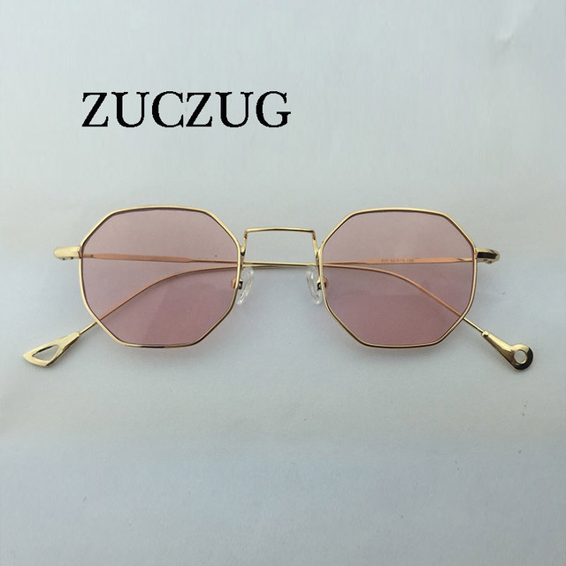 ZUCZUG hexagonal gafas de sol de las mujeres marco pequeño polígono gafas  de sol para hombres 6b37d69a2225
