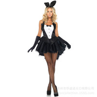 Lady Cosplay Costume Helloween Make Up Party Suit Cat Dress Night Clube Role Playing Suit B