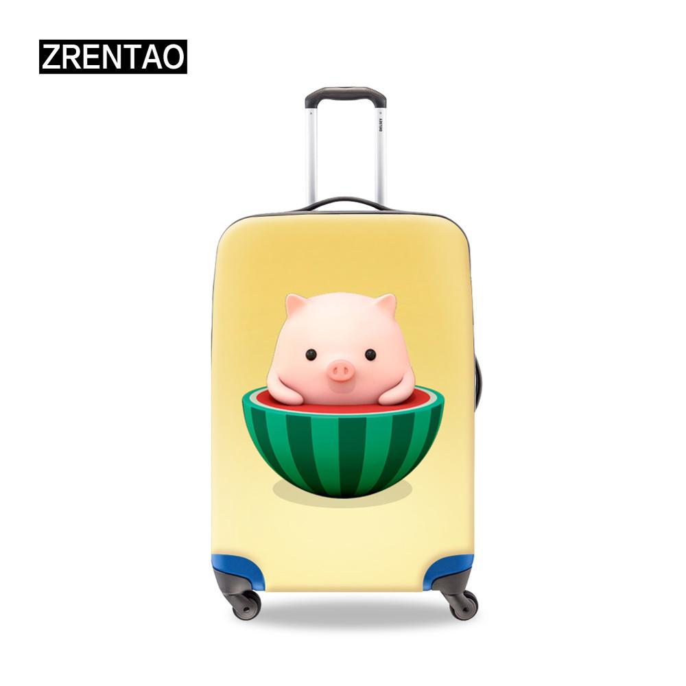 Children Personalized Luggage Covers Customed Suitcase Set Protector Travel On Road Trip Baggage Duffel Accessories Blue/Green