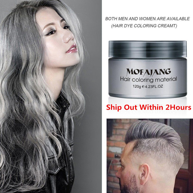 Best Hair Styling Paste Mesmerizing Dye One Time Molding Paste Hair Dye Wax Hair Styling Cream 7Color .