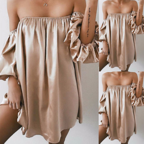 Short Silk Dress