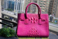 100% genuine crocodile skin leather women handbag shoulder bag, 2016 fashion alligator skin women cross body tote bag