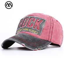 Stitching retro fashion patch baseball caps letter ROCK unisex visor  adjustable high quality dad hat truck 8d22ab2eedb