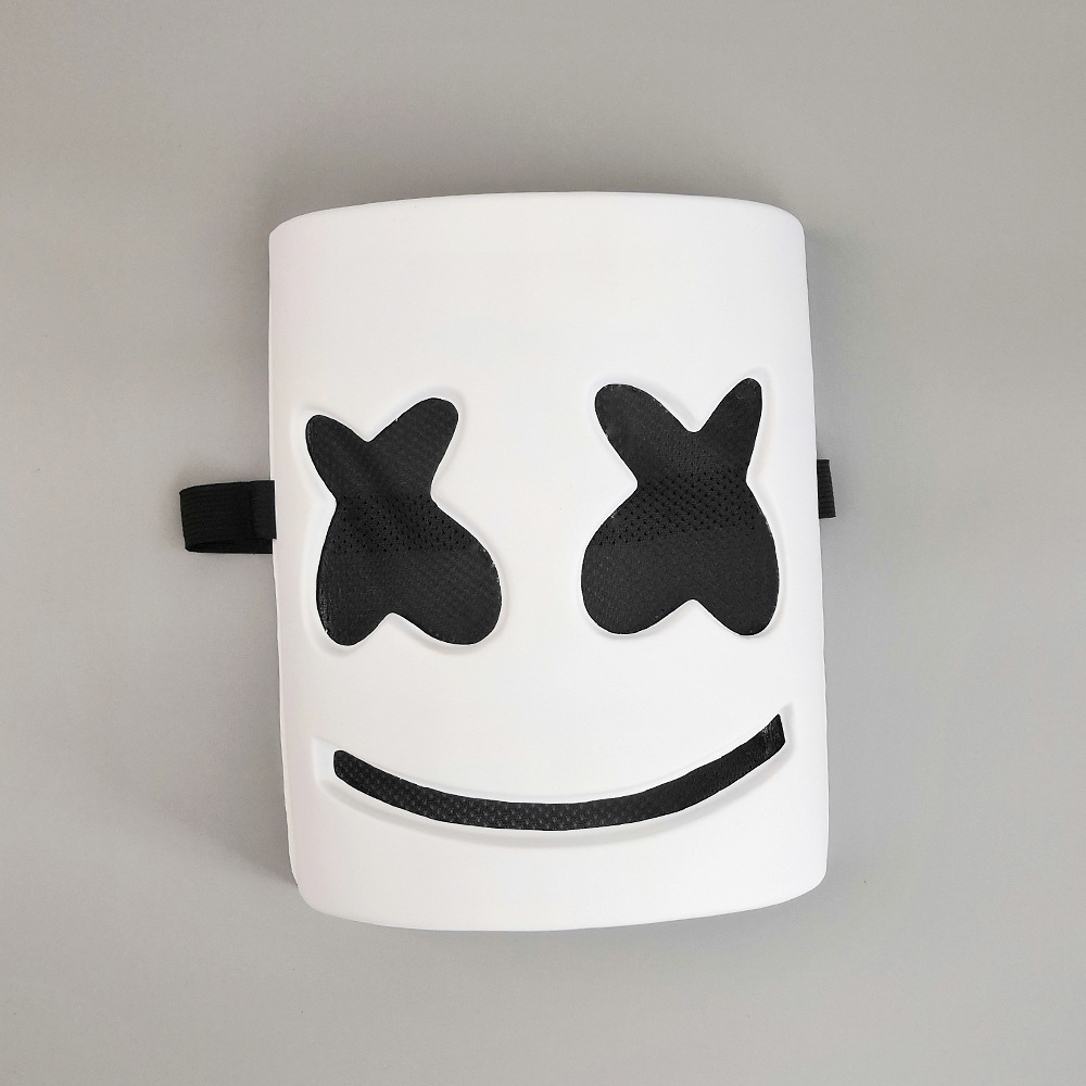 DJs Marshmello Helmet Mask Music Festival Marshmallow Head Mask Novelty Costume Party Rubber Pvc Mask White Masks