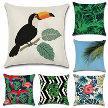 Nordic style Tropical plants bird flower Cushion Cover Decoration for home Sofa chair car Pillow Cover friend kids bedroom gift nordic style tropical plants flamingo green leaf cushion cover decoration for home sofa chair car pillow case friend kids gift