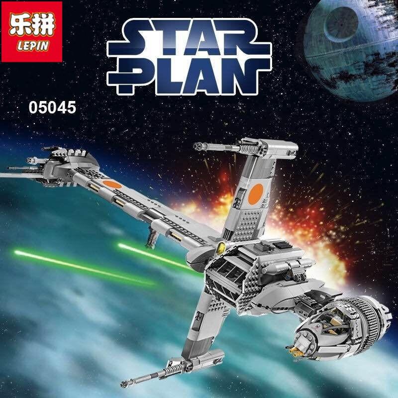 Lepin  05045 New 1487Pcs Genuine Star War Series The B-wing Starfighter Building Blocks Bricks Educational Toys rollercoasters the war of the worlds