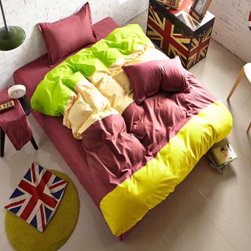 Plaid Stripe Mix Colors Duvet Cover Child Kids 3/4 Pcs Bedding Set Double Queen King Size Bedlinen 1.5m 1.8m 2.0m Bed Sheet Sets Power Source