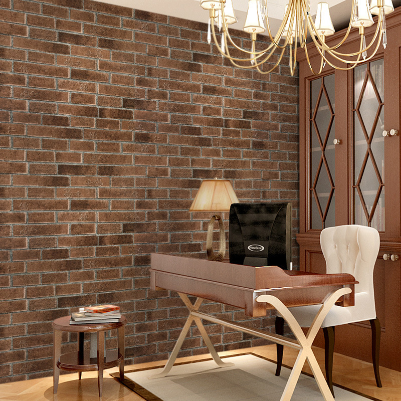 beibehang 3D stereo antique brick  retro pattern of Chinese restaurants living room TV backdrop wal lpaper wallpaper chinese retro personalized brick pattern wallpaper restaurant restaurants hotels dedicated wallpaper