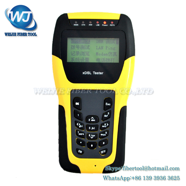 Vdsl2 WAN e LAN ADSL ST332B xDSL Tester testador equipamentos de teste de linha