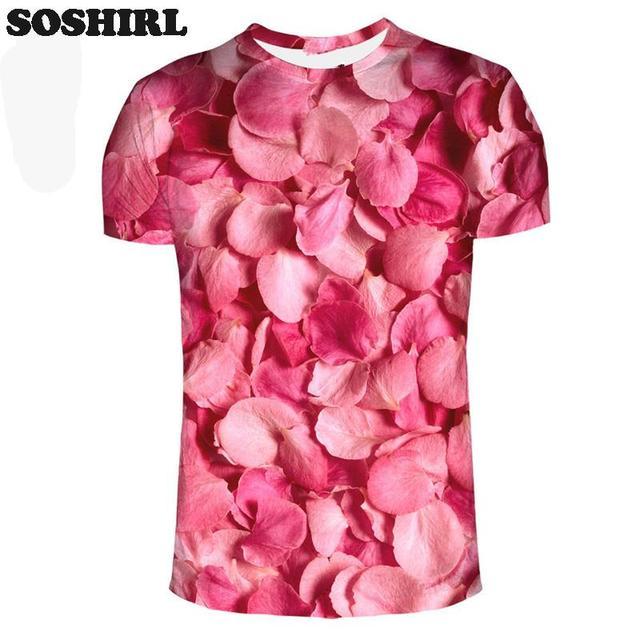 Aliexpress.com : Buy Pink Rose Petal T Shirt Sweet Style Unisex ...
