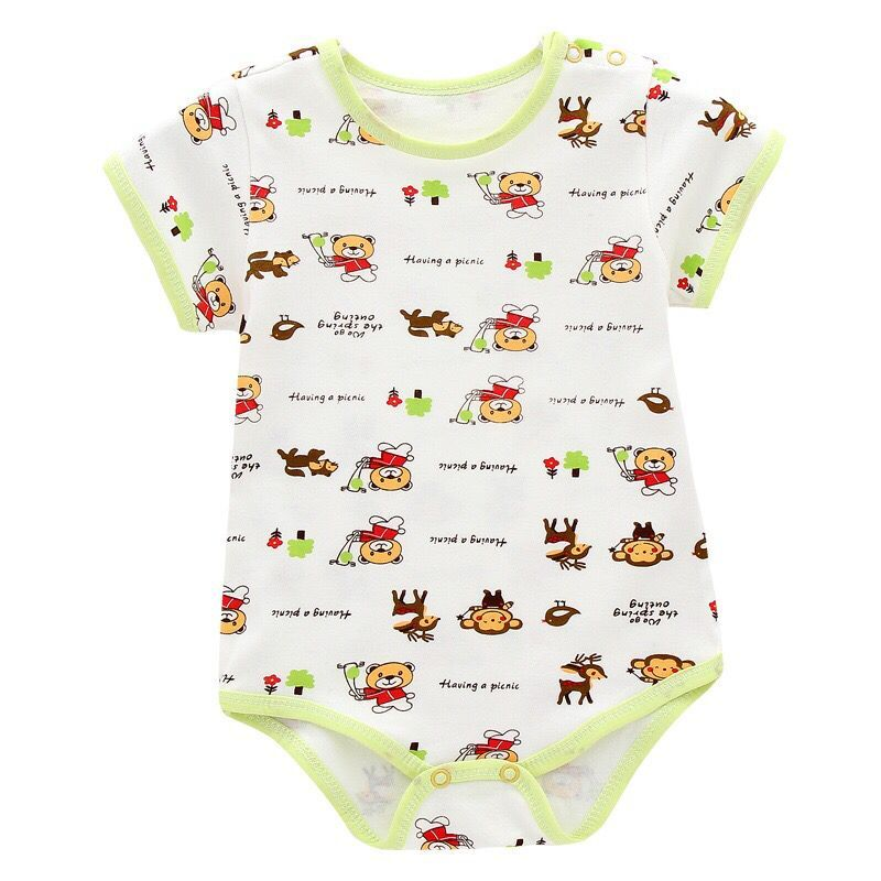 Body z krótkim rękawem Body dla noworodka Dziewczynka Body - Odzież dla niemowląt - Zdjęcie 3
