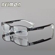 ffa2c64b9c9 Belmon Spectacle Frame Men Eyeglasses Korean Nerd Computer Prescription  Optical For Male Eyewear Clear Lens Glasses Frame RS050