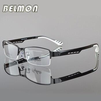 Montura de gafas Belmon para hombre, gafas coreanas para empollón, gafas ópticas para hombre, montura de gafas transparentes RS050