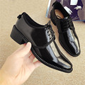 Cool Black Genuine Leather Women Flats Loafers Square Toe Lace-up Dress Shoes Butterfly knot in behind size 34-40 LS05A