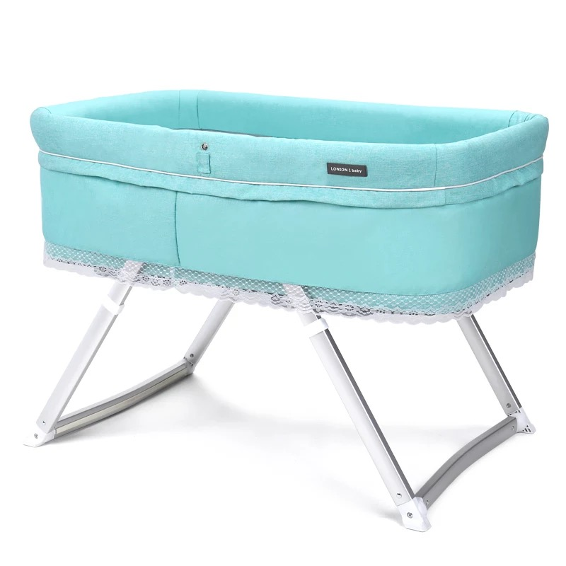 Portable Environmentally Friendly Newborn Shaker Multi-function Height Can Adjust The Cradle Foldable Outing Baby Travel Bed
