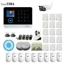 SmartYIBA Wireless WIFI GSM GPRS RFID Home Security System Alarm Outdoor Video IP Camera Alarm Fire Smoke Detector APP Control