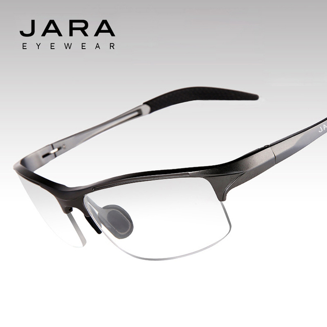 JARA Glasses Men Computer UV Glasses Fatigue Radiation Optical Eyeglasses Myopia Aluminum Frame Cycling Eyeglass Frame Eyewear