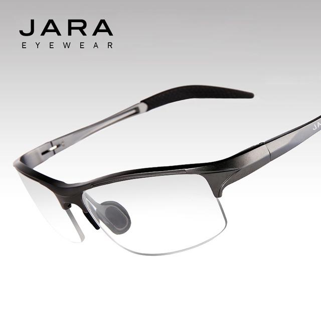 Jara gafas hombres uv gafas de ordenador fatiga radiación miopía gafas ópticas marco de aluminio ciclismo lente eyewear del marco