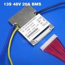 משלוח חינם 13 S 48 V סוללת ליתיום 20A BMS הגנת לוח 48 V Li Ion/LiPo/לצייר סוללות BMS BMS 48 V סוללה Ebike