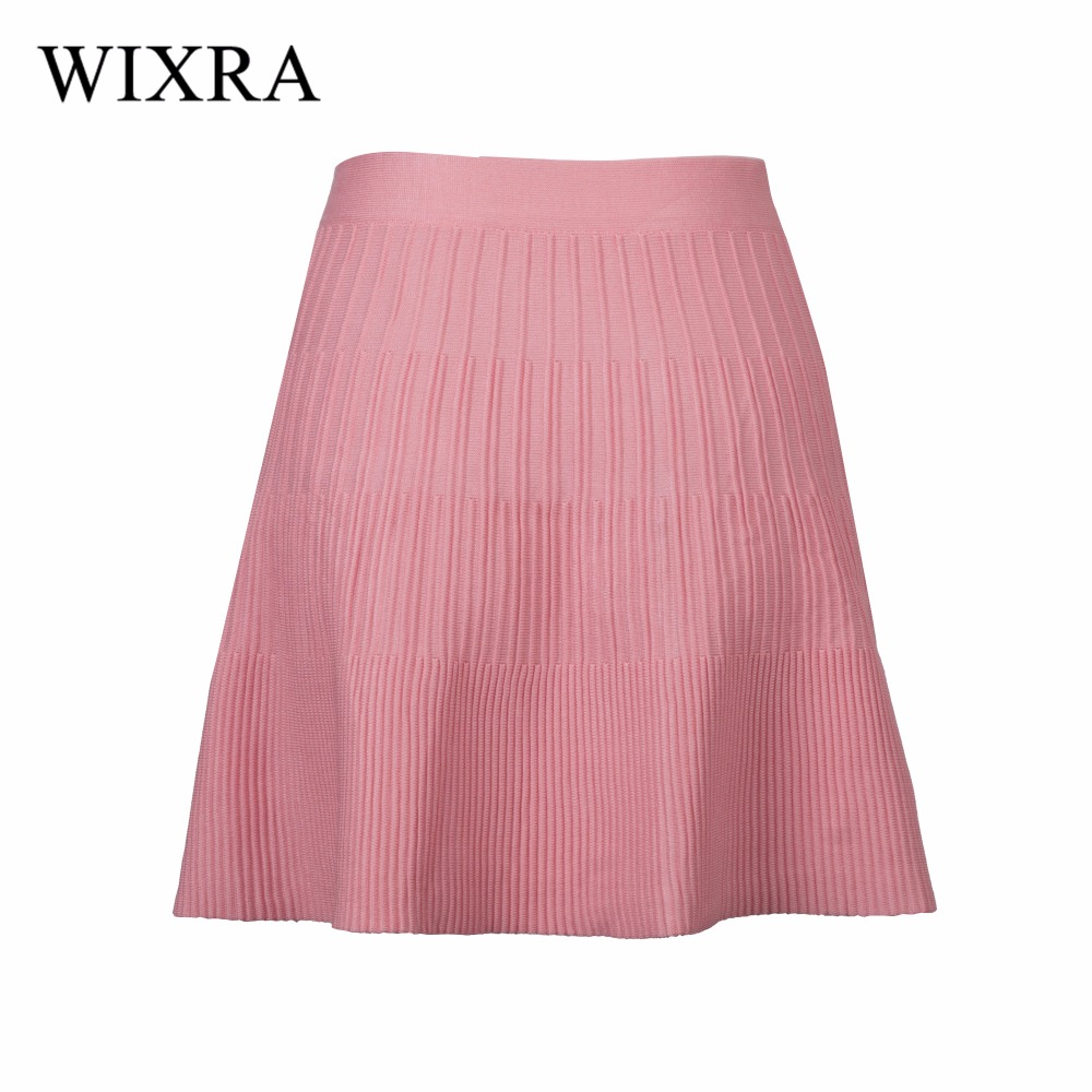 Wixra Warm and Charm School Knitted Skirt Fashion Plaid Short Skirt Pleated Skirt Student Girl Japanese Preppy Mini Skirt