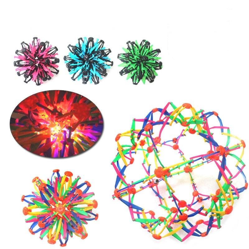 Baby Throwing Ball Flowering Shrinking Ball Toy Kindergarten Magic Telescopic Ball Toys For children