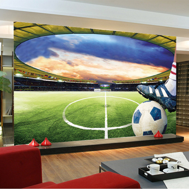 Marvelous Football Stadium Wall Mural Customize Photo Wallpaper Soccer Game ROOM  DECOR Collection Living Room Bedroom Hallway Part 15